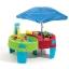 โต๊ะเล่นน้ำ และ ทราย พร้อมร่มกันแดด Step2 Shady Oasis Sand & Water Table สีเขียว แดง