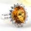 แหวนพลอยผู้หญิงเงินแท้ 92.5 เปอร์เซ็น ฝังด้วยพลอยซิทรินแท้ thumbnail 6
