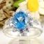 แหวนพลอยผู้หญิงเงินแท้ 92.5 เปอร์เซ็น ฝังด้วยพลอยสวิสบลูโทปาซแท้ thumbnail 3