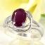 แหวนพลอยผู้หญิงเงินแท้ 92.5 เปอร์เซ็น ฝังด้วยพลอยทับทิมแท้ thumbnail 1