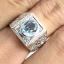 แหวนพลอยผู้ชายเงินแท้ 92.5 เปอร์เซ็น ฝังด้วยพลอยสกายบลูโทปาซแท้ thumbnail 7