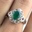 แหวนพลอยผู้หญิงเงินแท้ 92.5 เปอร์เซ็น ฝังด้วยพลอยกรีนอะเกทแท้ thumbnail 7