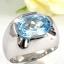 แหวนพลอยผู้ชายเงินแท้ 92.5 เปอร์เซ็น ฝังด้วยพลอยสกายบลูโทปาซแท้ thumbnail 3