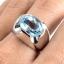 แหวนพลอยผู้ชายเงินแท้ 92.5 เปอร์เซ็น ฝังด้วยพลอยสกายบลูโทปาซแท้ thumbnail 5