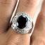 แหวนพลอยผู้ชายเงินแท้ 92.5 เปอร์เซ็น ฝังด้วยพลอยสโมกกี้ควอทซ์แท้ thumbnail 7