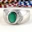 แหวนพลอยผู้ชายเงินแท้ 92.5 เปอร์เซ็น ฝังด้วยพลอยกรีนอะเกทแท้ thumbnail 4