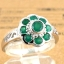 แหวนพลอยผู้หญิงเงินแท้ 92.5 เปอร์เซ็น ฝังด้วยพลอยกรีนอะเกทแท้ thumbnail 3