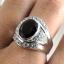 แหวนพลอยผู้ชายเงินแท้ 92.5 เปอร์เซ็น ฝังด้วยพลอยสโมกกี้ควอทซ์แท้ thumbnail 8