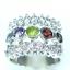 แหวนพลอยผู้หญิงเงินแท้ 92.5 เปอร์เซ็น ฝังด้วยพลอยแท้คละสี thumbnail 5