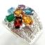 แหวนพลอยผู้หญิงเงินแท้ 92.5 เปอร์เซ็น ฝังด้วยพลอยแท้คละสี thumbnail 1