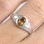 แหวนพลอยผู้หญิงเงินแท้ 92.5 เปอร์เซ็น ฝังด้วยพลอยซิทรินแท้ thumbnail 5