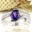 แหวนพลอยผู้หญิงเงินแท้ 92.5 เปอร์เซ็น ฝังด้วยพลอยแอมิทิสต์แท้ thumbnail 2