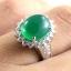 แหวนพลอยผู้หญิงเงินแท้ 92.5 เปอร์เซ็น ฝังด้วยพลอยกรีนอะเกทแท้ thumbnail 8