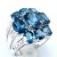 แหวนพลอยผู้หญิงเงินแท้ 92.5 เปอร์เซ็น ฝังด้วยพลอยลอนดอนบลูโทปาซแท้ thumbnail 3
