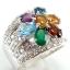 แหวนพลอยผู้หญิงเงินแท้ 92.5 เปอร์เซ็น ฝังด้วยพลอยแท้คละสี thumbnail 3
