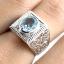 แหวนพลอยผู้ชายเงินแท้ 92.5 เปอร์เซ็น ฝังด้วยพลอยสกายบลูโทปาซแท้ thumbnail 8