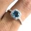 แหวนพลอยผู้หญิงเงินแท้ 92.5 เปอร์เซ็น ฝังด้วยพลอยสวิสบลูโทปาซแท้ thumbnail 8