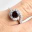 แหวนพลอยผู้หญิงเงินแท้ 92.5 เปอร์เซ็น ฝังด้วยพลอยโกเมนแท้ thumbnail 5