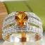 แหวนพลอยผู้หญิงเงินแท้ 92.5 เปอร์เซ็น ฝังด้วยพลอยซิทรินแท้ thumbnail 2
