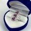 แหวนพลอยผู้หญิงเงินแท้ 92.5 เปอร์เซ็น ฝังด้วยพลอยโรโดไลท์การ์เน็ตแท้ thumbnail 9