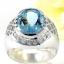 แหวนพลอยผู้ชายเงินแท้ 92.5 เปอร์เซ็น ฝังด้วยพลอยสกายบลูโทปาซแท้ thumbnail 2