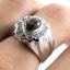 แหวนพลอยผู้ชายเงินแท้ 92.5 เปอร์เซ็น ฝังด้วยพลอยสตาร์แซฟไฟร์แท้ thumbnail 9