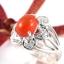 แหวนพลอยผู้หญิงเงินแท้ 92.5 เปอร์เซ็น ฝังด้วยพลอยคาร์เนเลียนแท้ thumbnail 1
