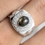 แหวนพลอยผู้ชายเงินแท้ 92.5 เปอร์เซ็น ฝังด้วยพลอยสตาร์แซฟไฟร์แท้ thumbnail 8