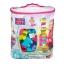 Mega Bloks Big Building Bag, 80-Piece (Pink) ตัวต่อเสริมสร้างจินตนาการ จำนวน 80 ชิ้น สีชมพู