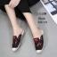 รองเท้า Flat shoe ลำลองลุกส์ชิวๆ ทำจาก pu ผสมผ้ายีน พื้นเป็นผ้าฝ้ายใส่สบา
