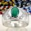 แหวนพลอยผู้ชายเงินแท้ 92.5 เปอร์เซ็น ฝังด้วยพลอยกรีนอะเกทแท้ thumbnail 3