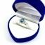 แหวนพลอยผู้หญิงเงินแท้ 92.5 เปอร์เซ็น ฝังด้วยพลอยลอนดอนบลูโทปาซแท้ thumbnail 9