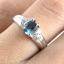 แหวนพลอยผู้หญิงเงินแท้ 92.5 เปอร์เซ็น ฝังด้วยพลอยลอนดอนบลูโทปาซแท้ thumbnail 7