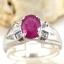 แหวนพลอยผู้หญิงเงินแท้ 92.5 เปอร์เซ็น ฝังด้วยพลอยทับทิมแท้ thumbnail 2