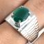 แหวนพลอยผู้ชายเงินแท้ 92.5 เปอร์เซ็น ฝังด้วยพลอยกรีนอะเกทแท้ thumbnail 7