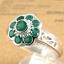 แหวนพลอยผู้หญิงเงินแท้ 92.5 เปอร์เซ็น ฝังด้วยพลอยกรีนอะเกทแท้ thumbnail 1