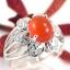 แหวนพลอยผู้หญิงเงินแท้ 92.5 เปอร์เซ็น ฝังด้วยพลอยคาร์เนเลียนแท้ thumbnail 3