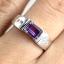 แหวนพลอยผู้หญิงเงินแท้ 92.5 เปอร์เซ็น ฝังด้วยพลอยแอมิทิสต์แท้ thumbnail 7