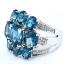 แหวนพลอยผู้หญิงเงินแท้ 92.5 เปอร์เซ็น ฝังด้วยพลอยลอนดอนบลูโทปาซแท้ thumbnail 4