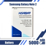 5000mAh EB595675LU N7100 Battery for Samsung Galaxy Note 2 Battery E250 Note 2 LTE N7105 N7102 T889 L900 Verizon i605