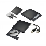 เครื่องอ่านเขียนซีดีแบบพกพา เครื่องอ่านและบันทึกแผ่น External Optical Disk Drive External CD CD-RW DVD ROM USB 2.0 Burner Combo Drive Black