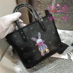 กระเป๋า MCM Mini Anya Top Zip Shopper สีดำ งานHiend Original