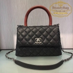 Chanel coco mini Handle Bag สีดำ หูแดง งานHiend Original