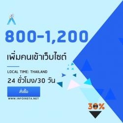 เพิ่มคนเข้าเว็บ ปั่นสถิติเว็บ 800-1,200 IP