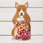 ถุงซองพลาสติกใสพร้อมที่รัดถุงลายหมาป่าสีน้ำตาล 6x11 cm. 100 ชิ้น : W004763