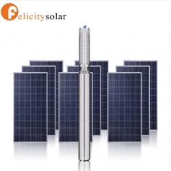 ปั๊มบาดาล 2 แรงม้า 1500W 2 ระบบ AC/DC (H50)#Felicity AC & DC Hybrid Power Submersible Solar Water Pump 2HP 1500W(H50)