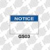 ป้าย NOTICE GS03