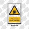ป้ายระวังลำแสงเลเซอร์ WA004