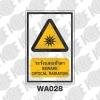 ป้ายระวังแสงเข้าตา WA028