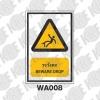 ป้ายระวังตก WA008